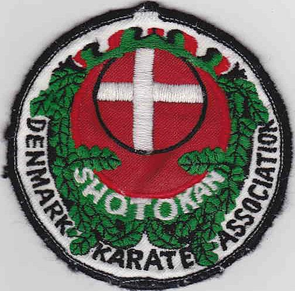Denmark Karate Association mærket af Bjørn Winblad 1975 Shotokan Karate JKA